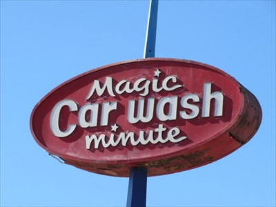 Magic Minute Car Wash Sign, Los Angeles, CA