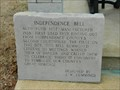 Image for Independence Bell marker- Batesville, Ar.