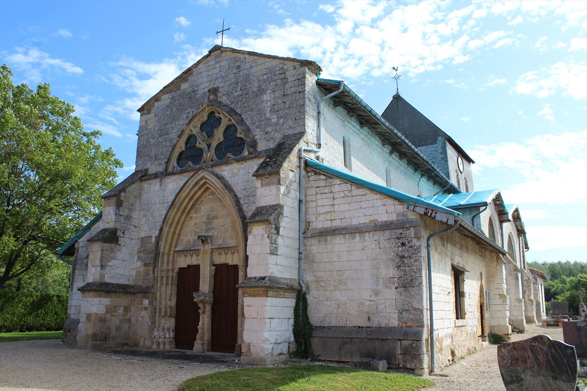 Linteau En Arc De Cercle eglise saint-memmie - courtisols, france - romanesque