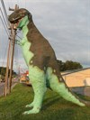 This dinosaur works as a greeter to the Luray Zoo.