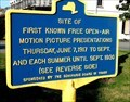 Image for Site of First Known Free Open-Air Motion Picture Presentations - Schoharie, NY