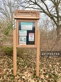 Centennial Park message board sign