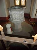 Image for Stone Font, Catholic Church, Evesham, Worcestershire, England