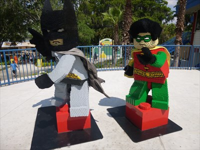 Lord Abercrombie visited Batman and Robin, Legoland - Lake Wales, FL