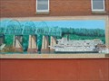 Image for Delta Queen Approaching  the Highway 54 Bridge Mural - Louisiana, Missouri