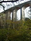 View from Valley Floor, Hengoed Railway Viaduct, Maesycwmmer, Wales