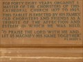 Image for Psalm 34:3 - Memorial Tablet - Chester, Cheshire, Engalnd, UK.