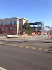 Draper City Hall with new wing construction.