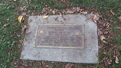 sesquicentennial time capsule next to the Spirit of