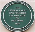 Image for Liberal Party Founded - King Street, London, UK