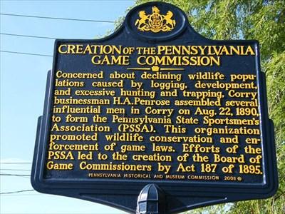 Creation of the Pennsylvania Game Commission - Pennsylvania