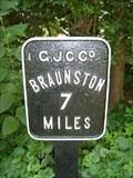 Image for Grand Union Canal Milestone - Brockhall, Northamptonshire, UK