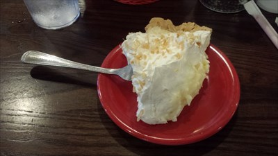 Coconut pie for dessert!