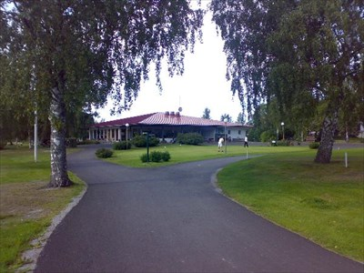 The Clubhouse at Kråklund golf.