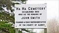Image for Ha Ha Cemetery - Upper New Horton, New Brunswick