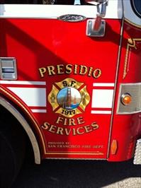 Presidio Fire Service Emblem, San Francisco, CA