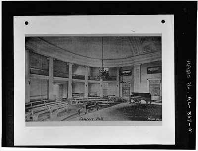 Former House Chamber used for classes in the college in the 1800s.