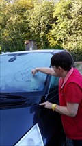 Image for Write something on your frosted car window!