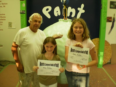 Kaylan and Alissa with Mr. Carmichael after painting layer # 22424