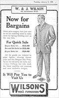 Image for W. & J. Wilson Men's Furnishers - Victoria, British Columbia, Canada - 1909