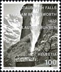 Image for Staubbachfall, Post Stamp 1930 and 2007, Switzerland