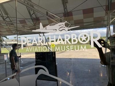 Pearl Harbor Aviation Museum Sign, Ford Island, Pearl Harbor, Hawaii