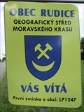 Image for Rudice Welcome Sign - Rudice, Czech Republic