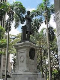 Statue of Pedrojust Berrio, Medellin, Colombia