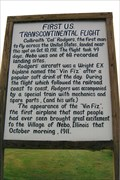 Image for FIRST - U.S. Transcontinental Flight - Nebo, IL