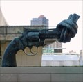 Image for Knotted Gun (Non-Violence) Sculpture - United Nations, New York