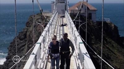 Hildy and Terry on Suspension Bridge, Marin Headlands, California