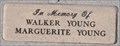 Image for Walker and Marguerite Young Memorial Bench ~ Boulder City, Nevada