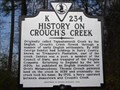 Image for History on Crouch's Creek