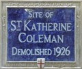 Image for St Katherine Coleman - St Katherine's Row, London, UK