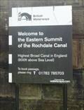 Image for Rochadale Canal Eastern Summit Lock 600 Feet – Warland, UK