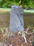 Image for Franklin Mile Marker - 33 Miles To Boston - 1767 Milestones - Northborough, MA