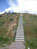 Image for Stairways to the Captain Jefferson Hunt monument - Idaho