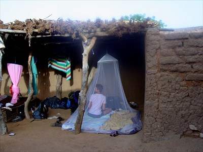 In our sleeping place at the town Bandiagara