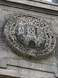 Image for Portugaleser mit Hamburg-Wappen am ehemal. Reichsbank-Gebäude - Hamburg, Germany