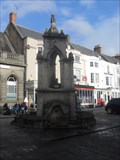 Image for The Market Cross with Fountain, Market Place, Wells, Somerset.