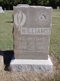 Image for M.E. Williams - Cross Roads Cemetery - Desert, TX