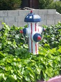 Image for American Flag Hydrant - San Jose, CA