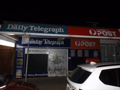 Late night street view of this Post Office. 1925, Saturday, 8 July, 2017