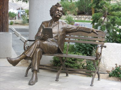 Show Me The Nearest Gas Station >> Mark Twain in Reno - Sit-by-me Statues on Waymarking.com