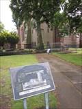 Image for Plaque, Church of St John the Baptist, Pepper Street, Chester, Cheshire, England, UK