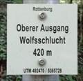 Image for 420m - Oberer Ausgang Wolfsschlucht - Bad Niedernau, Germany, BW