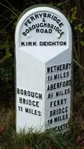 Image for Milestone - Old Great North Road, Kirk Deighton, Yorkshire, UK.