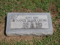 Image for 104 - Nancy Ellen Crume - Fairlawn Cemetery - Stillwater, OK