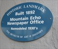 Image for Mountain Echo Newspaper Office - Boulder Creek, CA