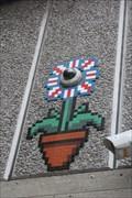 Image for Invader Street Art Mosaic -- Southbank Walking Path, London Borough of Lambeth -- UK